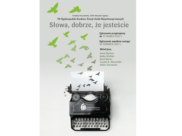 Zgłoś Swoje Wiersze Na Konkurs Fundacji Anny Dymnej